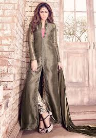Salwar Kameez Latest Designs Online Embroidered Tissue Pakistani Suit In Antique
