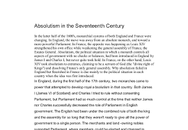 absolutism in the seventeenth century a level history marked  document image preview