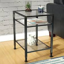 distressed finish end side tables love for table plan wayfair accent coffee table