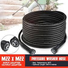 8 10m pressure washer hose m22 female