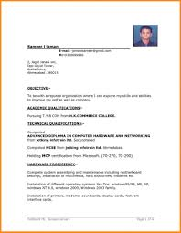 Simple Resume Format Download In Ms Word Free Mbm Legal Resume