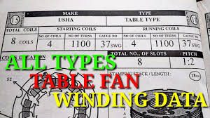 Winding Wire Gauge Chart Pdf Table Fan Coil Winding Diagram Pdf Schematics Online