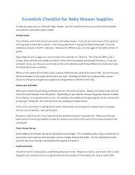 Essentials Checklist For Baby Shower Supplies