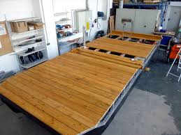 pontoon raft with wooden deck leisure boat kit mounting of the deck flooring