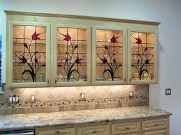 Superb Stained Glass Cabinet Inserts   Hawkings Residence Traditional Kitchen Good Ideas