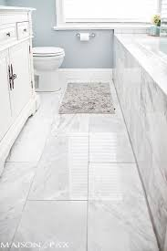 white tile bathroom floor. Interesting Floor I Love This Bathroom Gorgeous Finishes And Brilliant Ideas For  Spaceefficient Solutions At Maisondepaxcom With White Tile Bathroom Floor O