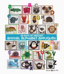 Animal Applique Designs 26 Days Of Crochet Animal Alphabet Appliques Repeat Crafter Me