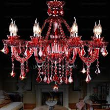 fabulous red crystal chandelier noble 8 light red chandelier crystal living room