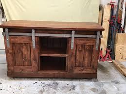 5 foot barn door console