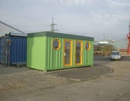 cargo container office. Small Shipping Container House Or Office. Urban Space Management Cargo Office