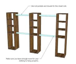 shelf with clothes rod how to build closet shelves clothes rods you can make the top