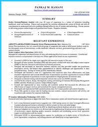 10 Business Systems Analyst Resume Sample Payment Format