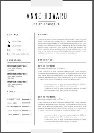 Contemporary Resume Format Gorgeous Simple Modern Resume Format Word Template Resume Template