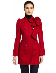 best red dress red wood coat french connection frill ruffle coat