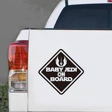 Us 2 03 10 Off Art Design Baby Jedi On Board Funny Reflective Car Sticker Windows Cute Car Decal Auto Safety Warning Stickers Free Shipping In Wall