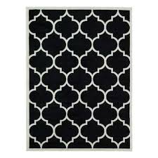 paterson collection black 5 ft 3 in x 7 ft moroccan trellis design area
