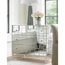 Mirrored Side Tables Bedroom Shilo Mirrored Bedside Table
