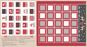 advent calander lewis irene fabric advent calendar