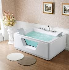 Bathtubs Idea, Mesmerizing Rectangular Jacuzzi Tubs Creative Home Ideas  With Back Pad And Flowers And