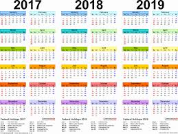 Free Printable Calendar For 2019 With Holidays Daily Holidays