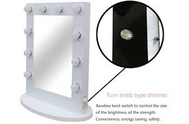 lighted vanity mirror tabletop. chende white hollywood table top makeup vanity mirror with light lighted tabletop