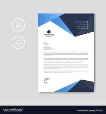 Professional Company Letterhead Professional Blue Letterhead Graphic Template