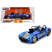 Jada 30706 1965 Shelby Cobra 427 S-C <b>Candy Blue</b> with Gold ...