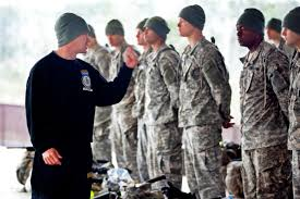 u s department of defense photo essay army capt gary dettloff reprimands iers for a lack of respect to the ranger cadre