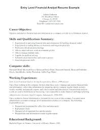 Career Objectives Resume Example Objective Sample Entry Level