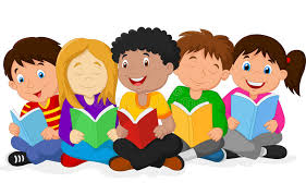 Image result for cartoon images of kids reading