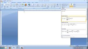ms office word 2007 part 20 how to use equation and symbol