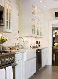 Small white kitchens Shaped Enlarge Traditional Home Magazine Beautiful Efficient Small Kitchens Traditional Home