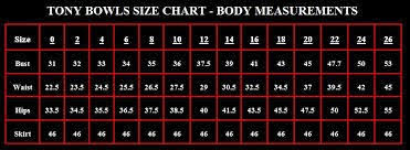 Enter The World Of Fashion And Dresses Tony Bowls Size Chart