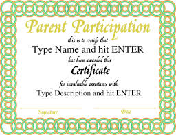 parenting certificate templates parent appreciation certificate