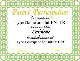 parenting certificate templates parent appreciation certificate