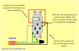 wiring diagram light switch outlet carlplant how to wire a switch outlet combo with power constantly supplied to the outlet at Wiring Diagram For Light Switch And Plug