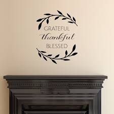 grateful thankful blessed wall es decal