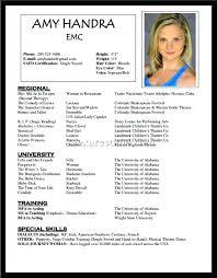 Sample Beginner Acting Resume Acting Resume Samples Beginner Actor