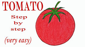 Tomato Color Chart How To Draw A Tomato Step By Step Very Easy Drawing Art Video