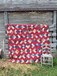 15 best Old Quilts images on Pinterest | Old quilts, Antiques and ... & Antique 1920's Heavy Quilt Cotton Batting Patchwork Feed sack fabric 80x78  Reds by Holliezhobbiez on Etsy Adamdwight.com