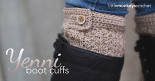 Free Crochet Boot Cuff Patterns Fascinating Yenni Boot Cuffs Crochet Pattern Little Monkeys Crochet