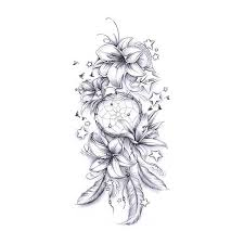 Dream Catcher Tattoo Sketch Lilly Dreamcatcher Tattoo Drawing Just For ME Pinterest 42