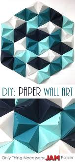 read on to find 8 easy steps to make the perfect geometric paper wall art piece the only necessary item you need is jam paper read on on 3d wall art decor diy with diy geometric paper wall art pinterest paper walls art pieces