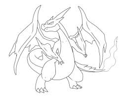 Small Picture Coloring Pages Charizard Pokemon Coloring Page Free Printable