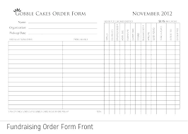 Sample Cake Order Form Template Free Documents Download In Request