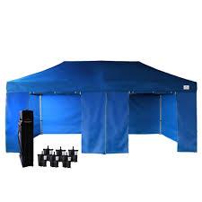 enhanced 2 door blue 10x20 ez up canopy