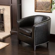 magnificent black leather club chair christopher knight home mia black bonded leather quilted club