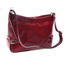 italian red leather shoulder bag