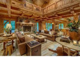 Log Cabin Living Room Concept New Decorating