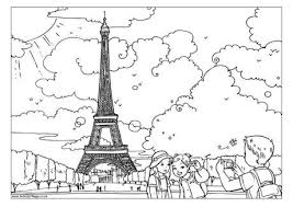 Small Picture The Eiffel Tower Colouring Page